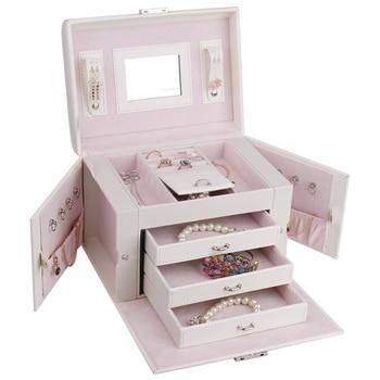 Brand White Mirror Jewelry Box