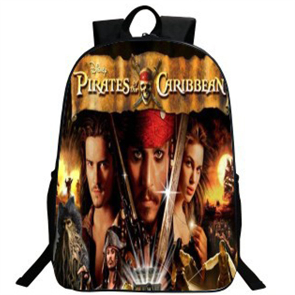 Children Animal Printing backpack Pirates of the Caribbean 2016 New Boys Babys Bookbag School Backpacks for