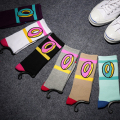 Retail cotton Fashion 6 colors cat odd future donut summer thin style hiphop men Walking Socks 2pair/lot