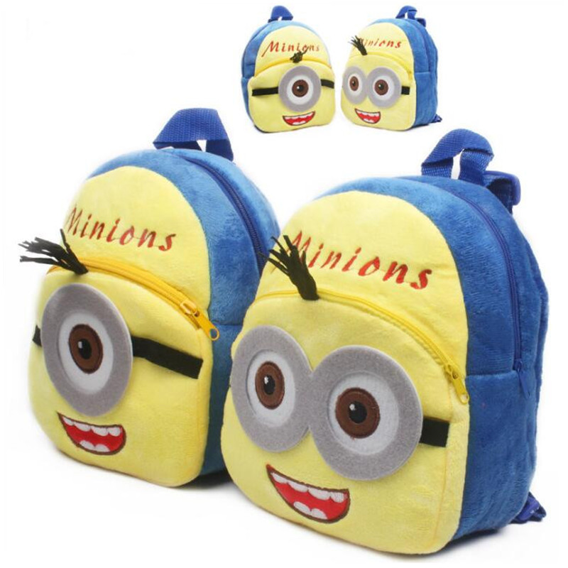 New Arrival Minions Plush Kids Backpackers Children School Bags Christmas Gifts