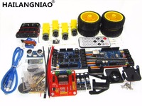 Upgraded Version 4WD Robot Car UNO Project Smart Robot Car Kit With UNO R3 Ultrasonic Bluetooth