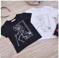 Atacado 5 pçs/lote T-shirt das crianças dos miúdos das meninas Do Bebê roupas de manga curta cervos camiseta do Menino 1-5 T sylvia 545391103712