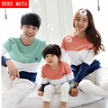 Beke Mata Family Look Winter 2016 Striped Matching Mother Daughter Clothes Family Matching Clothing Father Son T-shirts Sets
