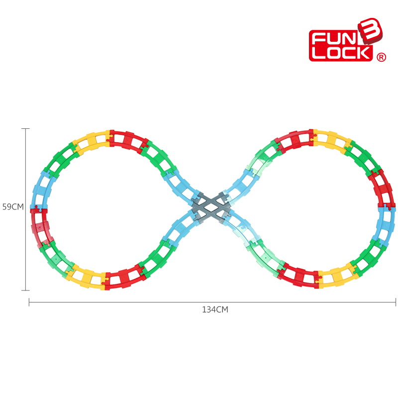 Funlock Duplo 25pcs Train Track Blocks Building Set for Kids Funny Creative Assemble Railway Bricks Gift for Children track building blocks compatible with duplo train track crossover parts railway switch accessories bricks set toys for kid gifts