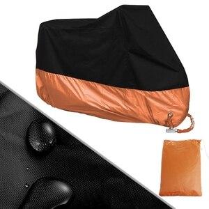 Image 2 - 無料配信オレンジ l/xl/xxxl オートバイ用防水ハーレーダビッドソンストリートグライドツーリングドロップ無料