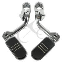 Universal 32mm Long Angled Highway Engine Guard Foot Peg For Harley Davidson Suzuki Yamaha Kawasaki 1