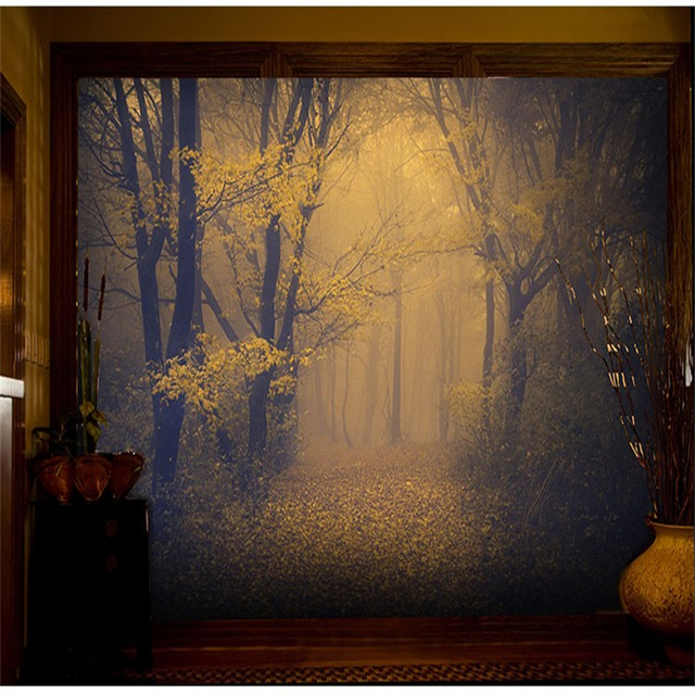Beibehang 3d Forest Wallpaper Room Escape Haunted House