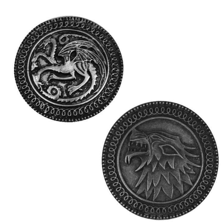 Game Of Thrones Badge Cosplay Accessories House Stark Targaryen Family Badge Metal Pin Brooches A Song Of Ice And Fire Costume