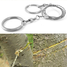 Field Survival Stainless Wire Saw Hand Chain Saw Cutter Outd