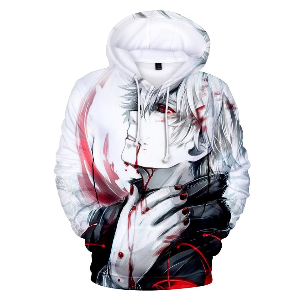 Tokyo Ghoul 3D Hoodies Sweatshirts Mannen/vrouwen Trainingspakken Anime Kaneki Ken 3D Print Hoodies Dunne Herfst Sweatshirts
