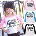 """3 Colors Black Pink Blue Baby Girls Boy Kids """"Ain't nobody""""Long Sleeve Cotton Casual Shirts Clothes T-shirts Tops"""