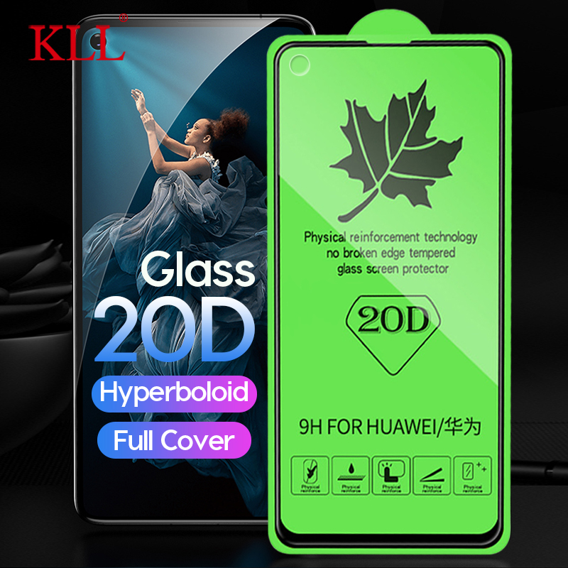 20D Full Cover Tempered Glass for Huawei Honor 20 Pro 20i 10 Lite View 20 8X 8A Screen Protector for Huawei P30 Lite Nova 5 4 4e