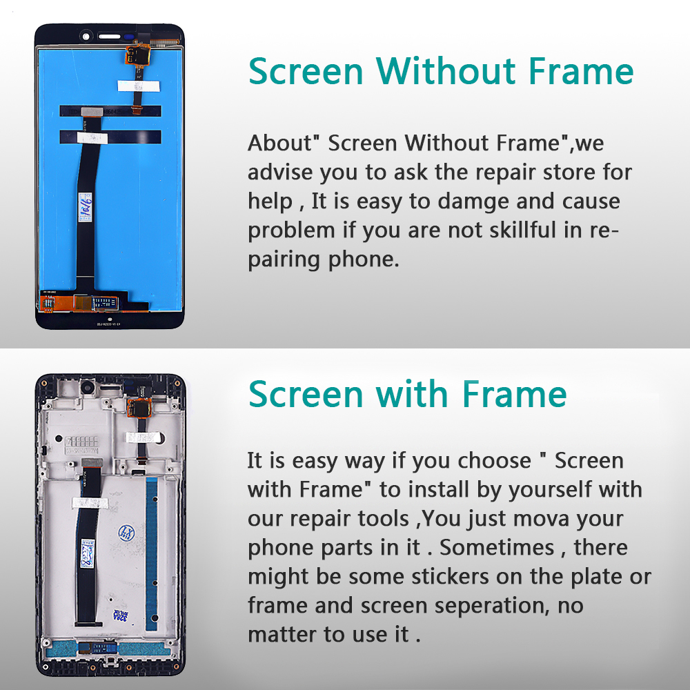 HTB1bOX5aInrK1RjSspkq6yuvXXac 100% Tested LCD display For Xiaomi Redmi 4A 5.0 inch Touch Screen 1280*720 Digitizer Assembly Frame with Free Tempered Glass