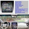 For Nissan Patrol Safari Y61 Y62 - Safe Driving Screen Car HUD Head Up Display Projector Refkecting Windshield