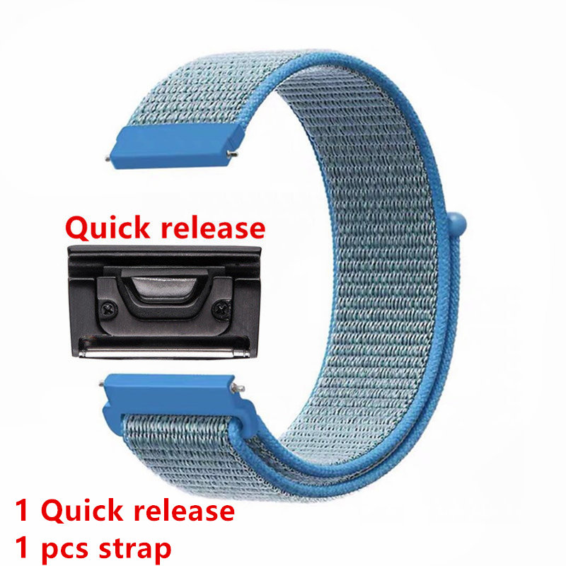 26 milímetros Quick release Nylon Velcro Alça de Pulso Para Garmin Fenix 3/Fenix 3 HR/Fenix 3 zafiro /Fenix 5x/Foretrex 601 pulseira de Relógio