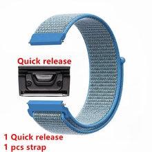 купить 26mm Quick release Nylon Velcro Wrist Strap For Garmin Fenix 3/Fenix 3 HR/ Fenix 3 zafiro/Fenix 5x /Foretrex 601 Watch strap недорого