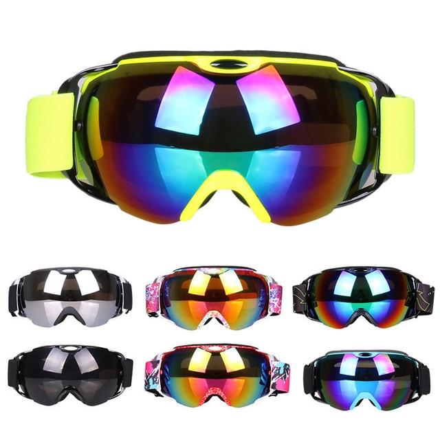 caeba24027f Double Lens UV400 Big Ski Mask Glasses Skiing Goggles Anti-fog Ski  Snowboard Snowboarding Winter