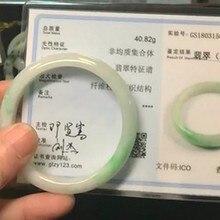 Король нефрита! Fidelity, натуральный джадеит, 54 мм, браслеты в китайском народном стиле, хорошее ювелирное изделие для женщин, натуральный зеленый драгоценный камень