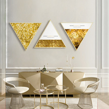 Modern luxury golden abstract wall painting Bedroom bedside Creative Nordic living room decorative with frame
