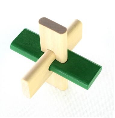 Wooden Kong Ming Lock Adult Children Educational toys Interactive game