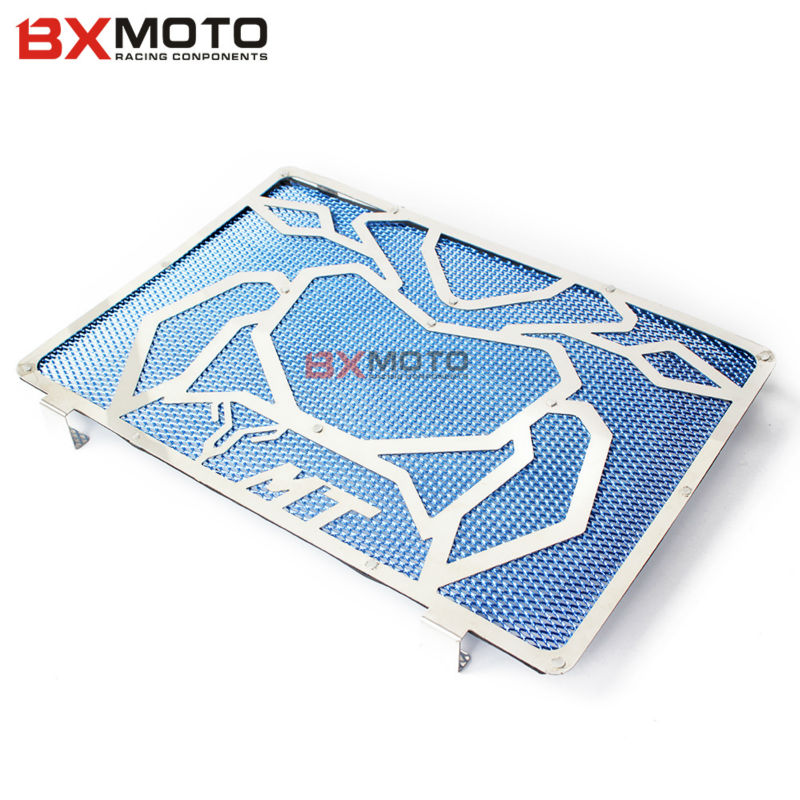 For Yamaha MT09 MT-09 MT 09 Motorcycle accessories engine radiator Bezel Grille Grill Guard Cover Protector Blue Stainless Steel rubing matching motorcycle accessories ybr125 guard board blue