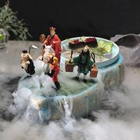 Journey to the West Personality Seminal Hotel Dry Ice Music Tableware Set Chinese Style Irregular Characteristic Hot Pot Plate