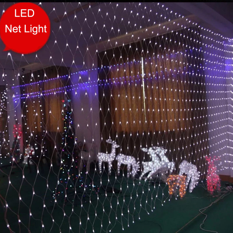 8x10m 2600 led net lights led string fairy lights christmas lights outdoor landscape lighting garlands guirlande lumineuse led in led string from lights