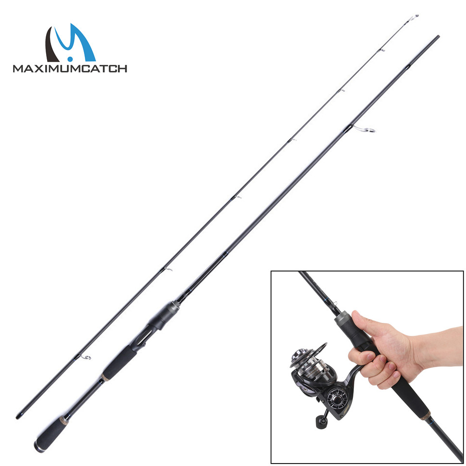 Maximumcatch Spinning Rod 2.06M/2.1M Lure Weight 1/8-1/2oz Fast Action 2Pieces Carbon Fiber Fishing Spinning Fishing Rod