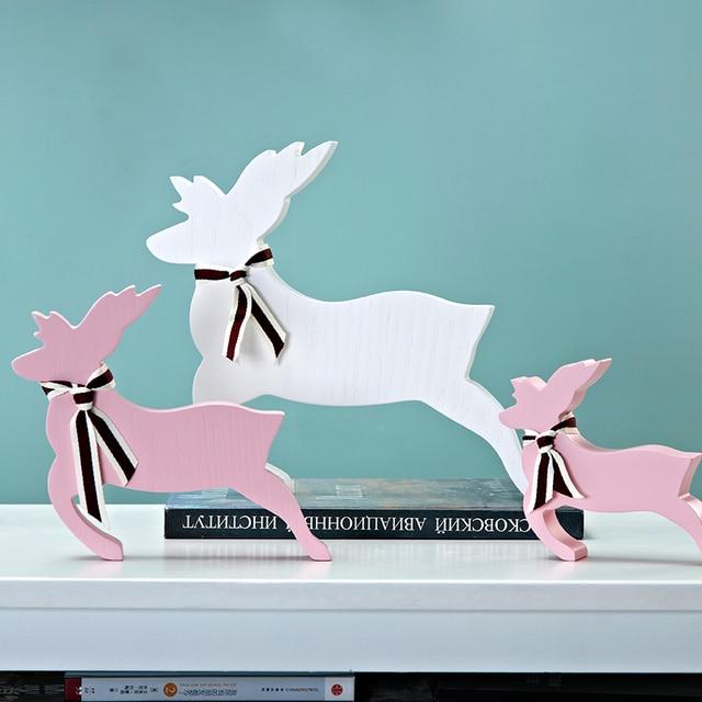 Creative Decor Decoration Children Home Bedroom Deer Decorations Christmas  Gift For Kids Creative Living Room Wooden