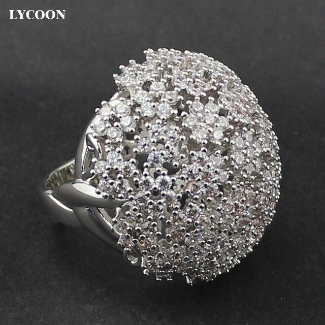 LYCOON Hot sale white Austrian CZ Crystal elegant Engagement Rings ...