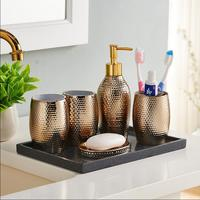 New Arrival Nordic Style Resin Bathroom Set Five piece Sets Bath Accessory Wash Sets With Free Shipping