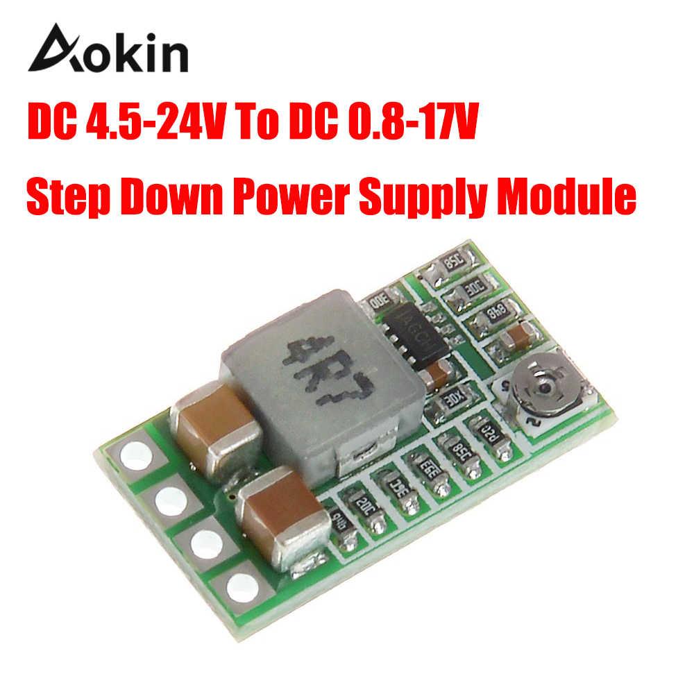 Ультра-маленький мини-DC-DC Шаг вниз Питание модуль 3A понижающий преобразователь Регулируемый 1,8 V 2,5 V 3,3 V 5V 9V 12V для Arduino diy kit