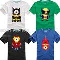 Asseclas T-Shirt Maravilha DC Comic Super Hero Superman Spiderman Batman Capitão América Thor Hulk Filme de T Tshirt Camiseta Nerd