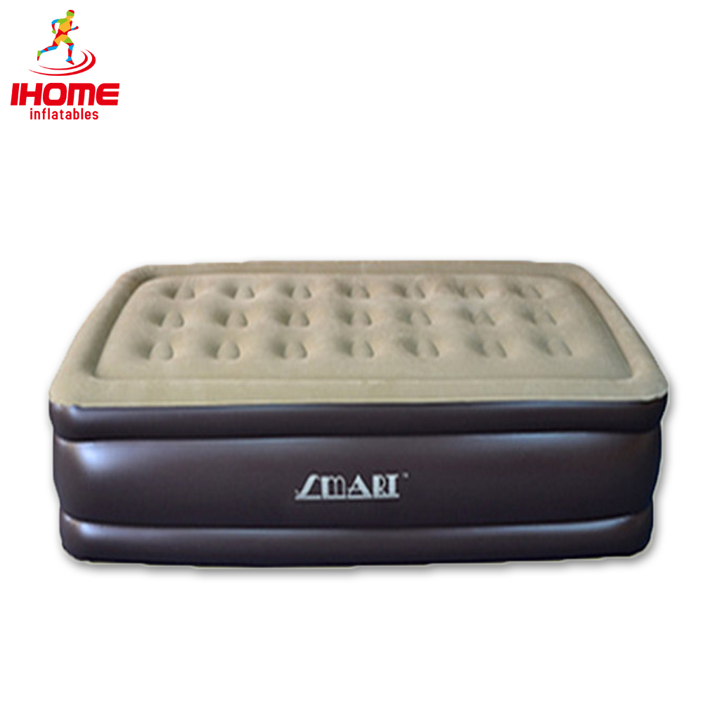 192x102x43cm Inflatable air mattress bed PVC air mattresses airbed with flocking surface for one person