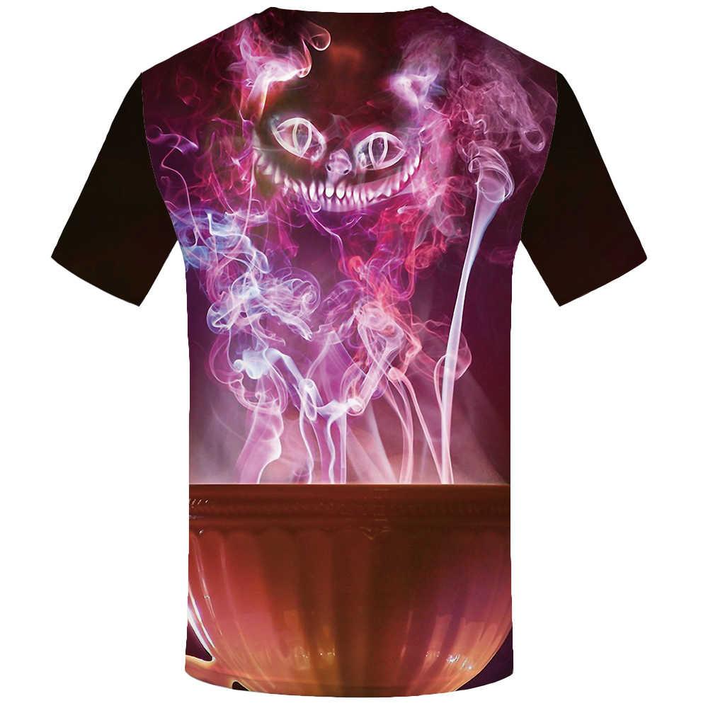 KYKU Katze T-shirt Männer Tier T-shirts 3d Psychedelic T-shirt Gedruckt Bunte Anime Kleidung Harajuku T-shirts Casual Herren Kleidung