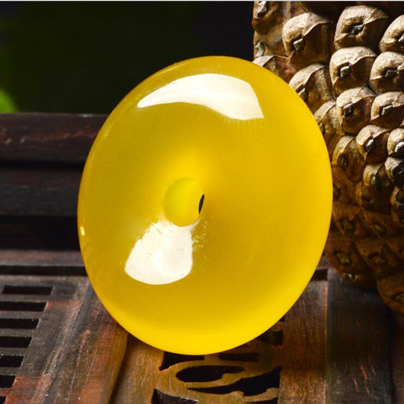 Ю. Синь юаней моды желтый нефрит Медуллярный безопасный застежка кулон обувь для мужчин и женщин подарок партии Fine Jewelry