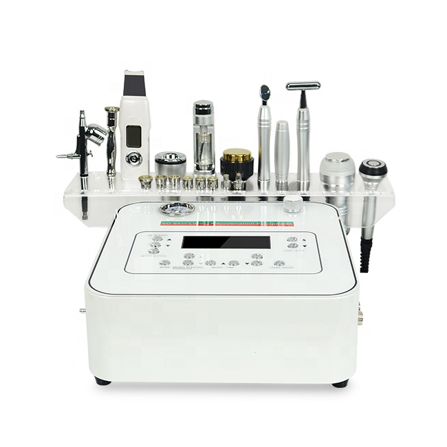 10 In 1 Professional Diamond Dermic Microdermabrasion Mesotherapy Electroporation Microcurrent Face Lift Machine