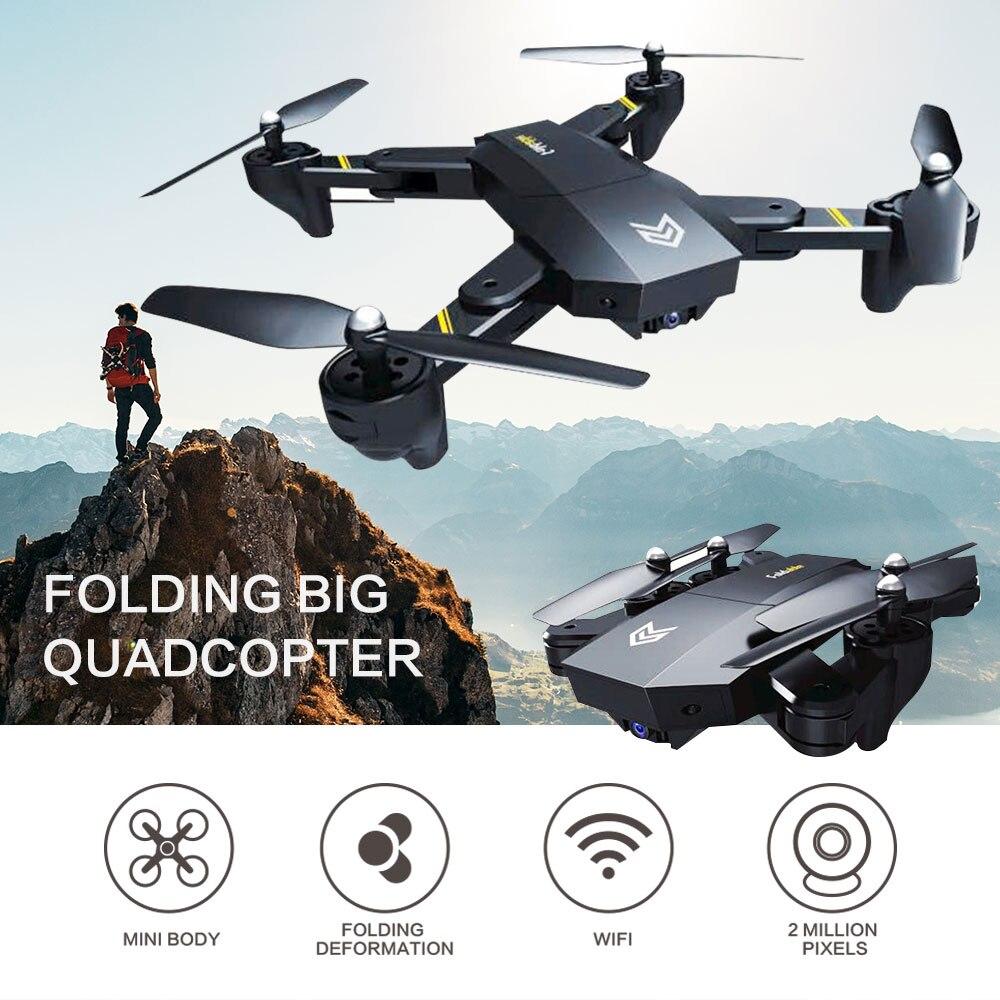Drone RC Quadcopter Mini avec WIFI Caméra Télécommande Pliable Aéronefs Portable S25 Auto Planant FPV Drone 4 Axe Retournement