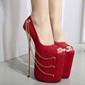 Женщины На Высоких Каблуках Обувь Сексуальная Peep Toe Красный Sexy Stripper обувь Партия Насосы Обувь Гладиатор Платформа Высокие Каблуки Zapatos Mujer Tacon
