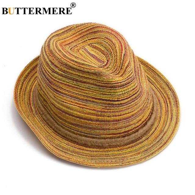 BUTTERMERE Straw Hat Women Sun Hat Jazz Linen Female Panama Hat Casual Summer 2020 New Fashion Beach Ladies Hats Gorra Hombre