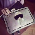 Personalized Cartoon design fashion Lafayette rivets envelope bag clutch purse handbags casual shoulder bag women handbag