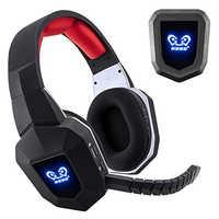 7,1 auriculares inalámbricos 2,4 Ghz auriculares de juego estéreo con cancelación de ruido óptico para TV, ordenador, PS4, Xbox, con sonido envolvente 7,1