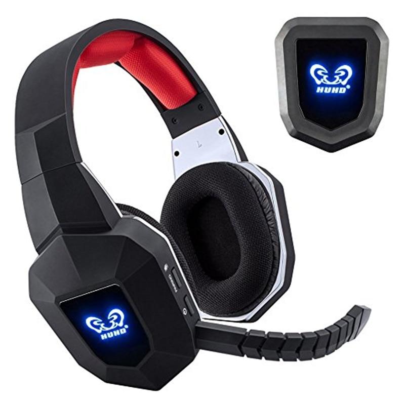 7.1 Auricolare Senza Fili 2.4 ghz Ottico A Cancellazione di Rumore Stereo Gaming Gioco Cuffie per la TV, PC, PS4, xbox, con 7.1 Surround Sound