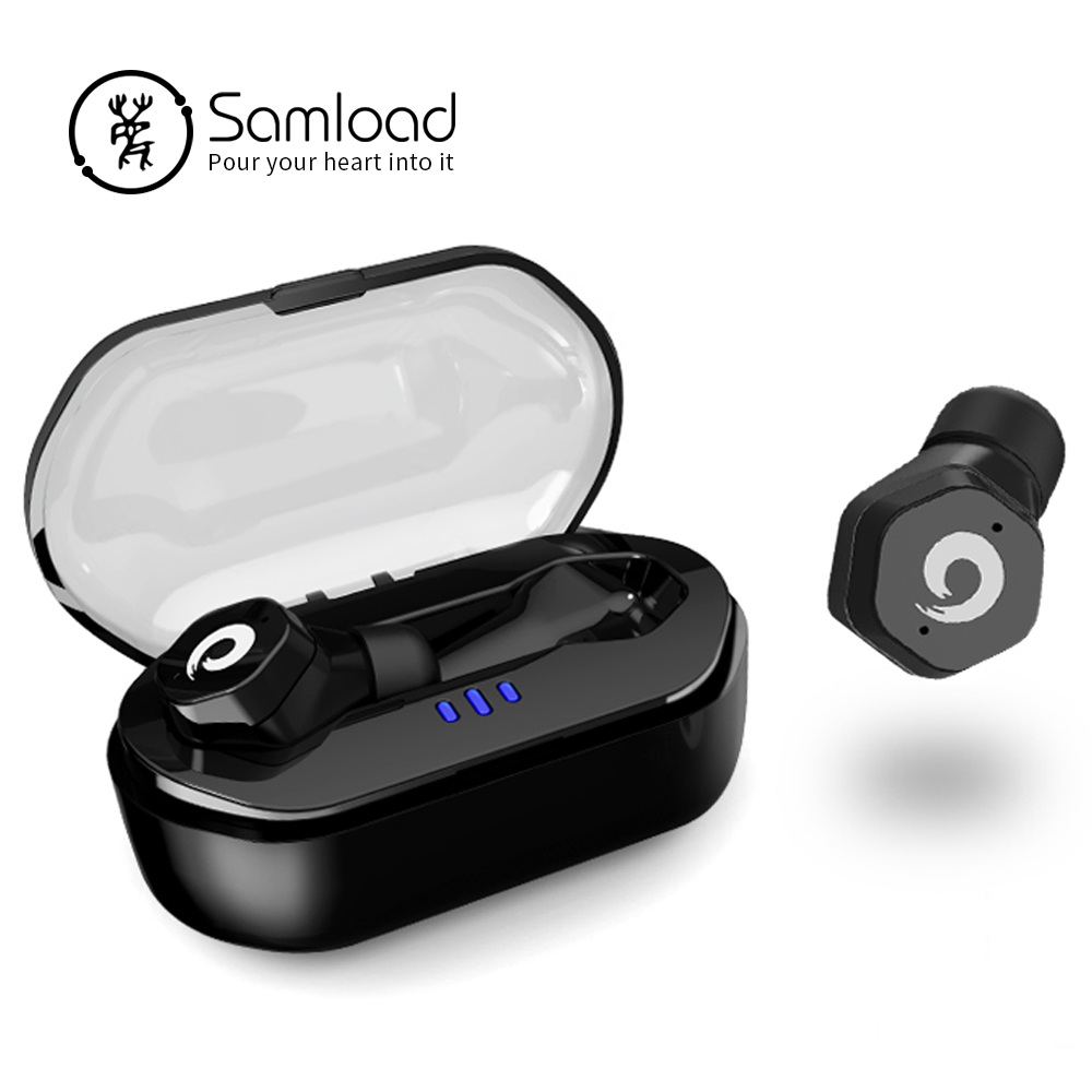 Samload Bluetooth 5 0 Headphones Deep bass Wireless Earphones IPX7 Swimming in ear Earbud with Charging