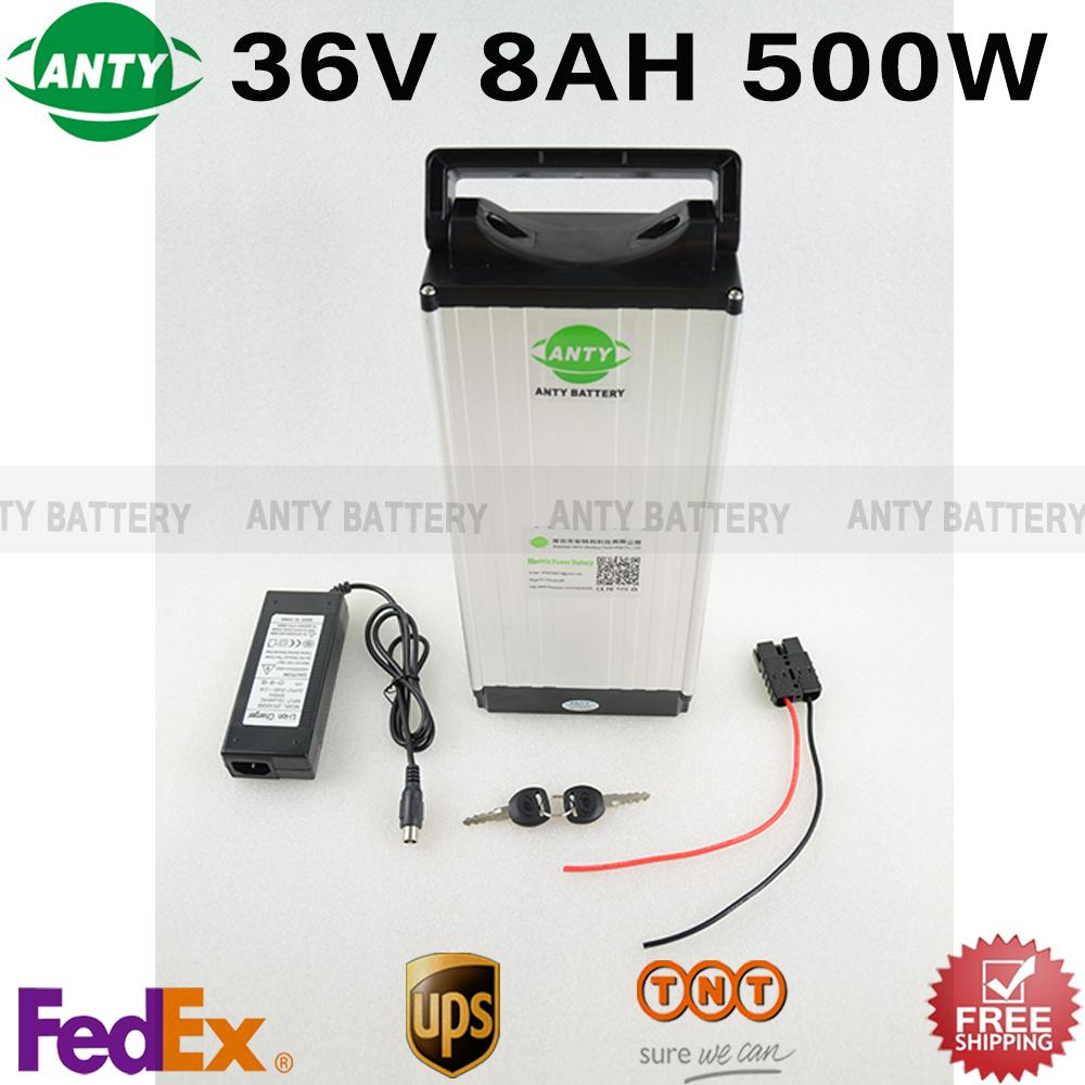 Bike Battery 36v 8ah 500w Battery Pack 36v With 2a Charger,15a Bms E-bike Battery 36v Lithium Electric Bicycle Scooter Battery free customs taxes super power 1000w 48v li ion battery pack with 30a bms 48v 15ah lithium battery pack for panasonic cell