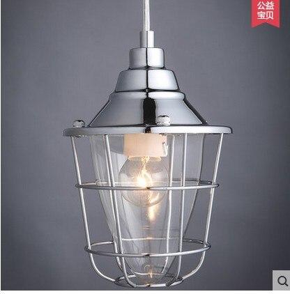 Industrial designer loft retro wind small hob personality single head American Cafe Bar pendant light lacywear vokm 8 hob