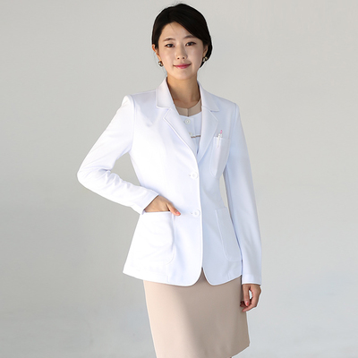 High-end Korean plastic surgery hospital doctor white coat nurses wear dental wear beauty salon work clothes coat