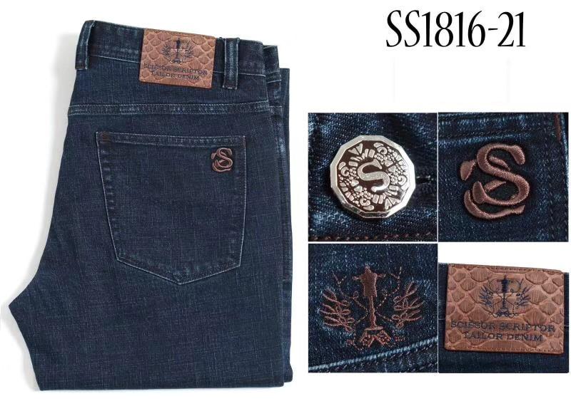 MILJARDAIR TACE & SHARK jeans slangenhuid mannen 2018 Herfst winter dikke nieuwe stijl mode toevallige hoge kwaliteit gratis shippng-in Spijkerbroek van Mannenkleding op  Groep 2