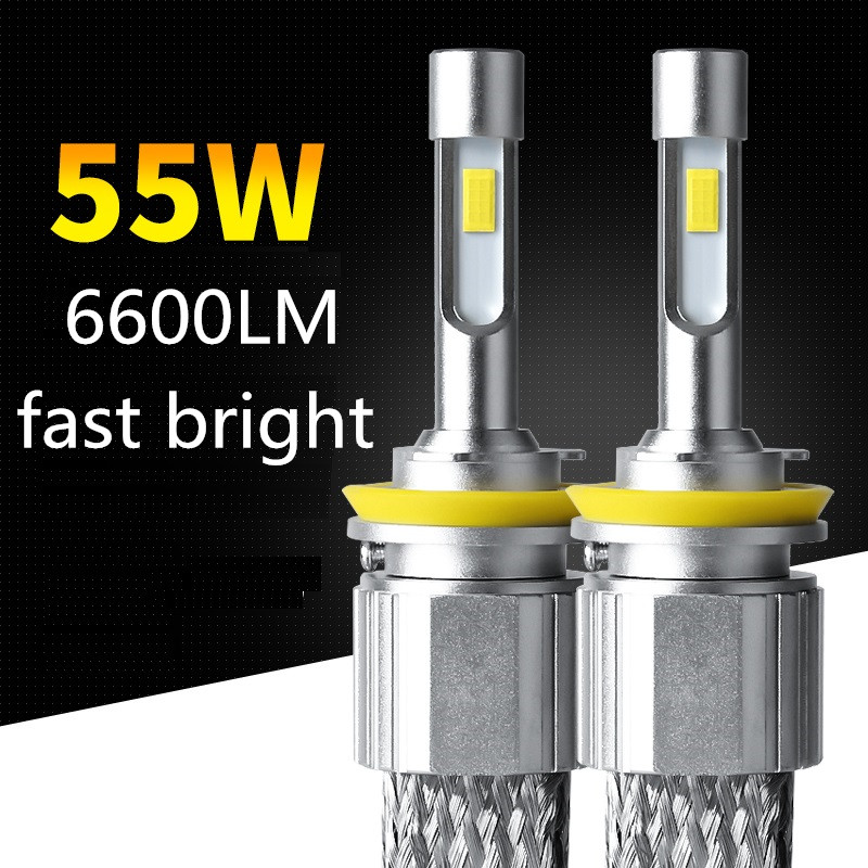 Dianshi 55 Вт 6600LM супер яркий автомобиль H7 H11 H4 9005 светодиодный фар hb3 hb4 9006 h1 автомобиля светодиодный свет 5500 К