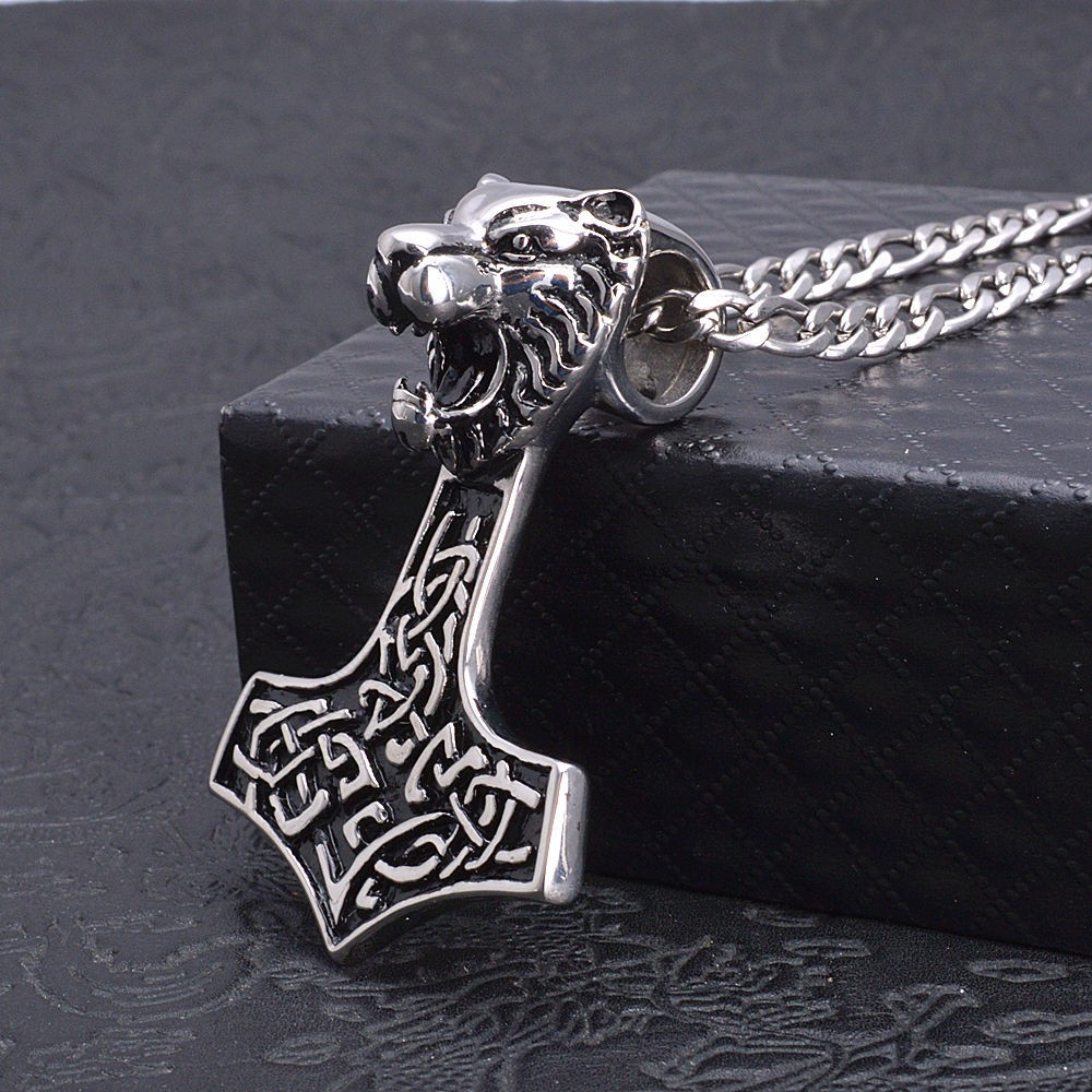HTB1bOZOMpXXXXatXXXXq6xXFXXXE - Men's Viking Bear Titanium Steel Pendant